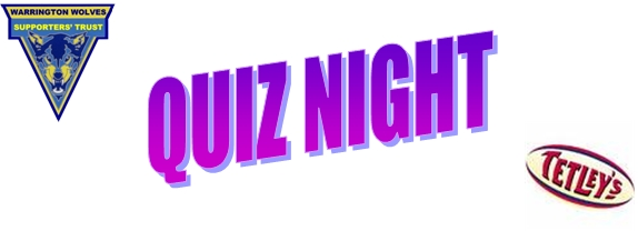 2014 Quiz Night Announced