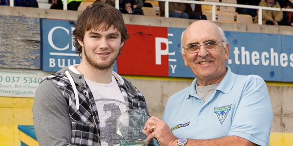 Ben Evans u20 Player of the Year 2010