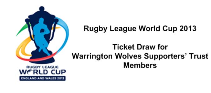 Members RLWC2013 Ticket Draw